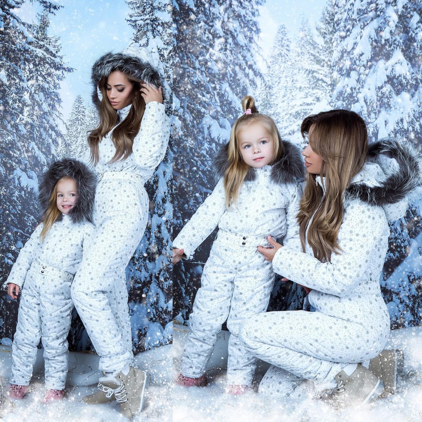 Комбинезон теплый зимний Family Look взрослый 10941