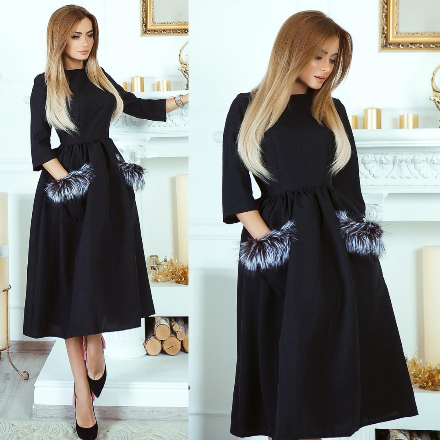 Платье из габардина 10724