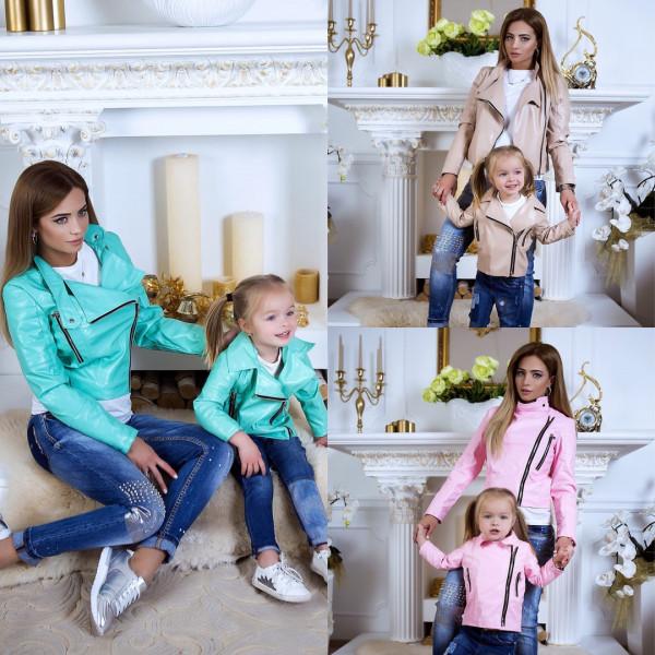 Куртка экокожа детская familylook 10615
