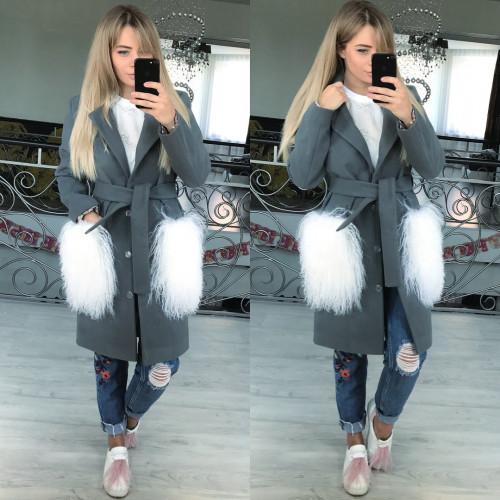 Пальто стильное из кашемира 10872