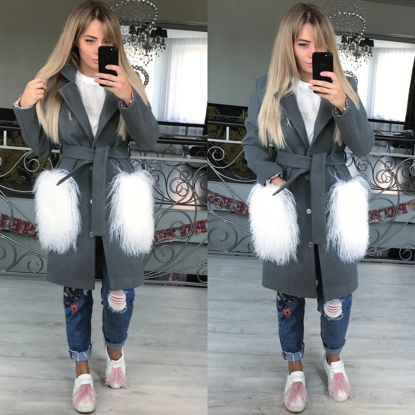 Пальто стильне з кашеміру 10872