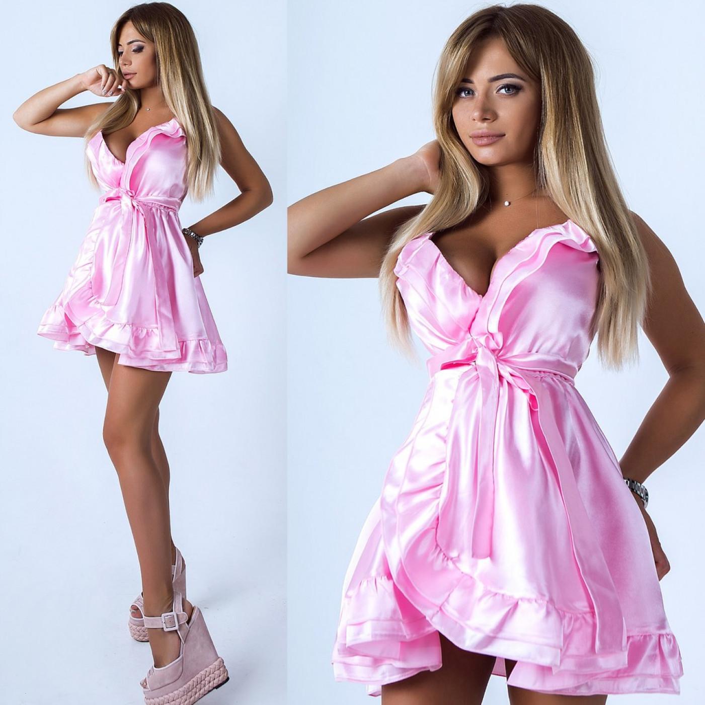 Платье воздушное атласное 10857