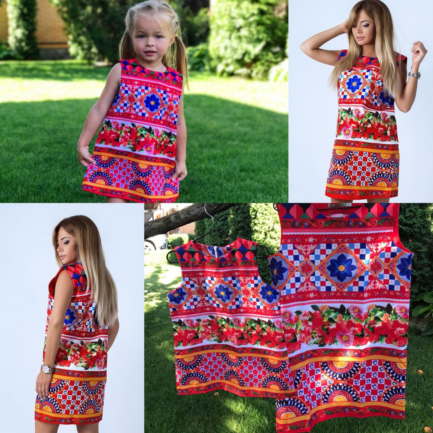 Ошатне дитяче плаття Family Look 10846