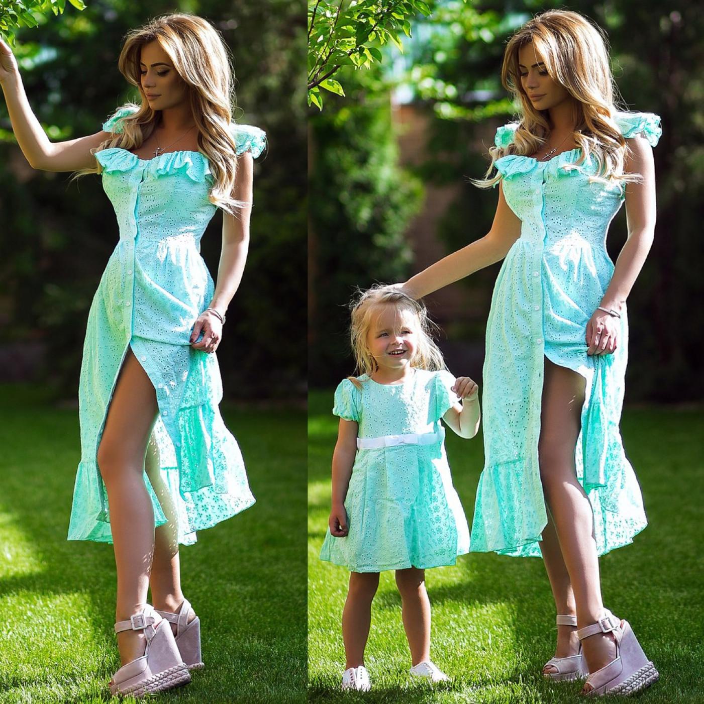 Платье взрослое  familylook 10582