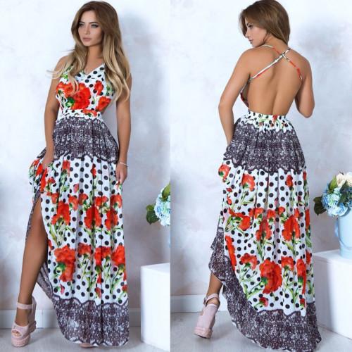 Легкое платье - сарафан в пол 10536
