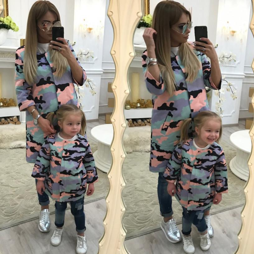 Пальто дитяче familylook Камуфляж 10311