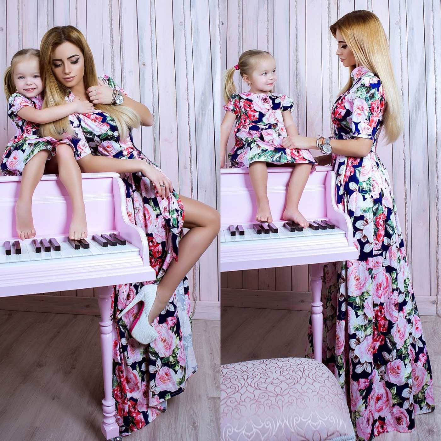 Сукня дитяча familylook Троянди 10741