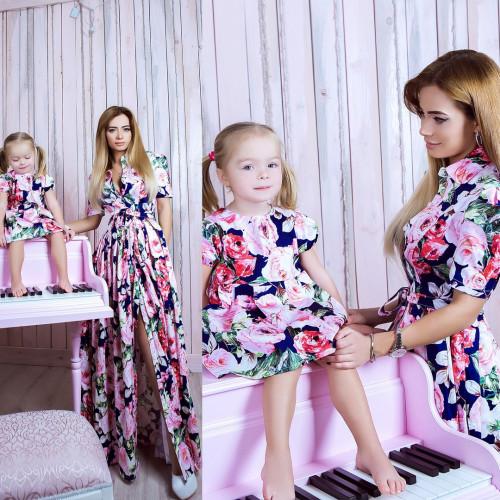 Платье детское familylook Розы 10741