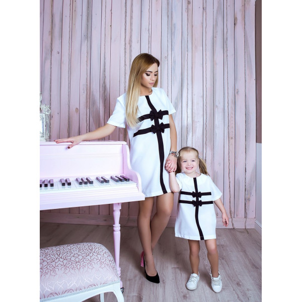 Сукня дитяча Бантики familylook 10739