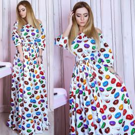 Платье взрослое familylook 10749