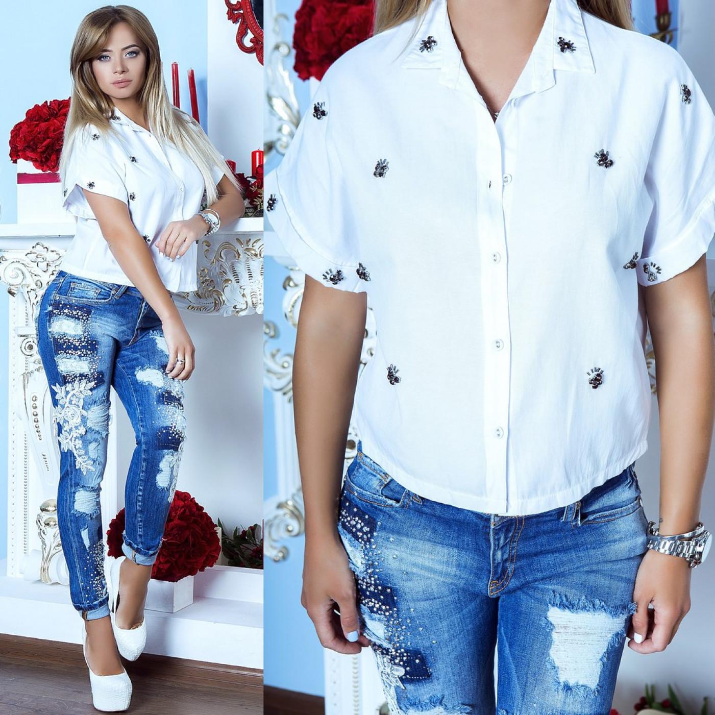 Рубашка с коротким рукавом 6854