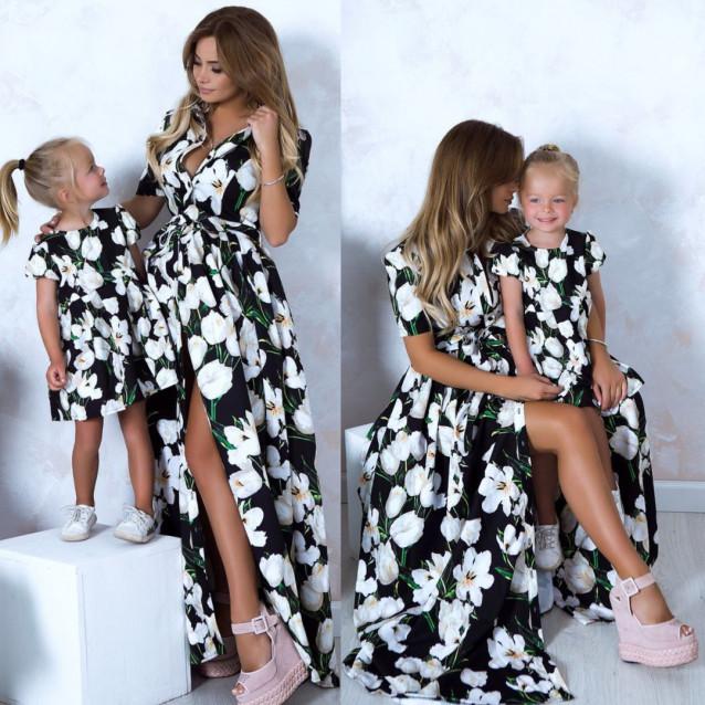 Платье детское familylook 10780