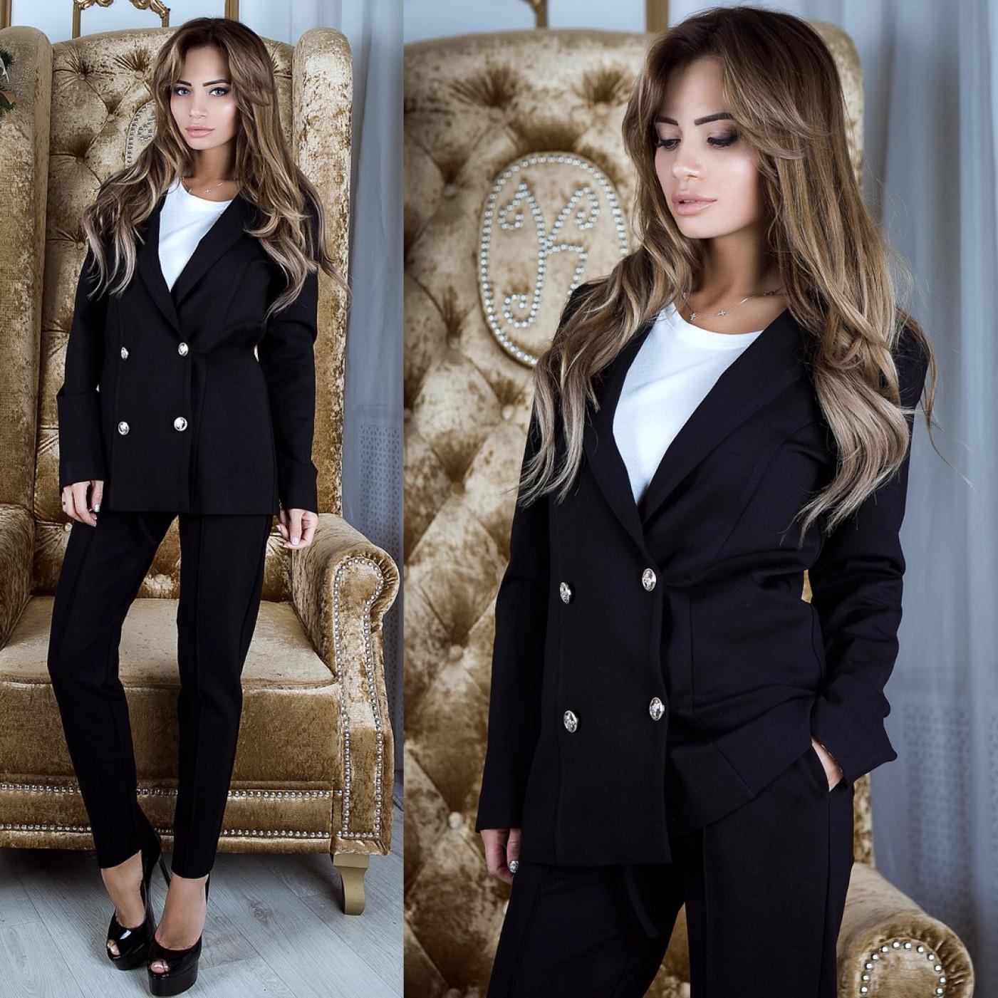 Классический костюм  пиджак+брюки 10938