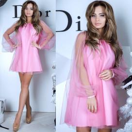 Платье с фатином 10766