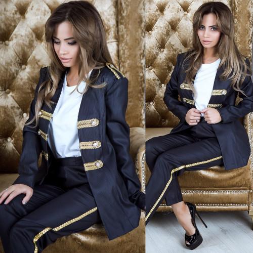 Костюм гусарик пиджак+штаны 10929