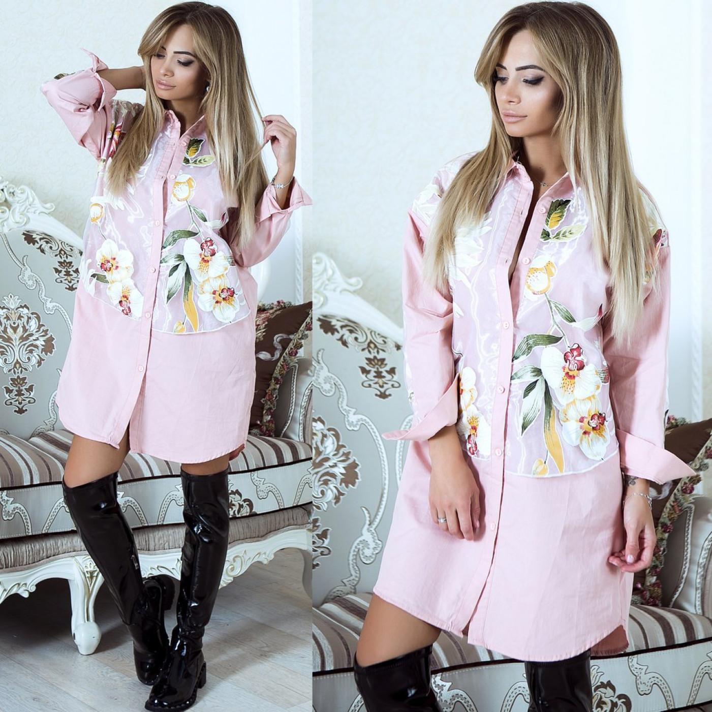 Оригинальное платье рубашка 6880