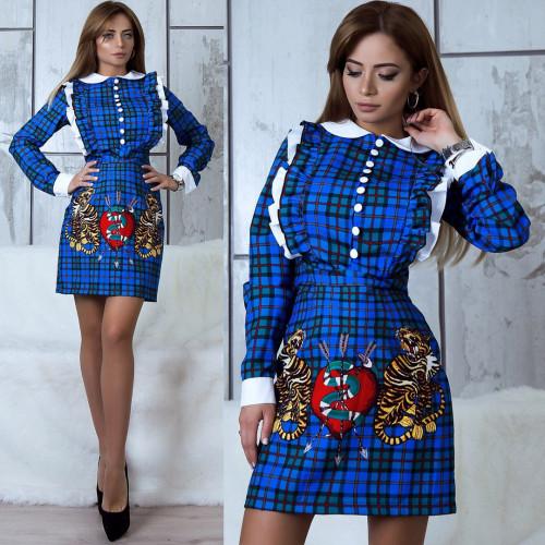 Платье школьницы с рисунком 10773