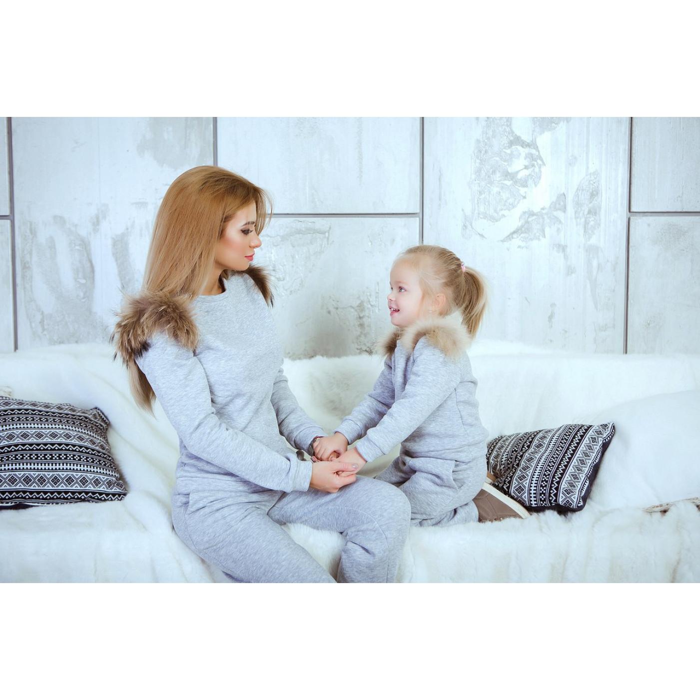 Теплый детский костюм 10686