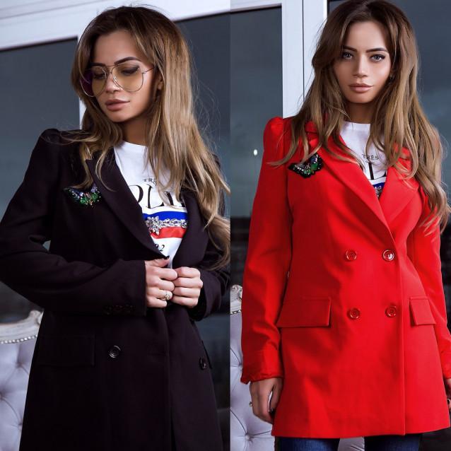 Пиджак оригинальный с бабочкой 6116-0