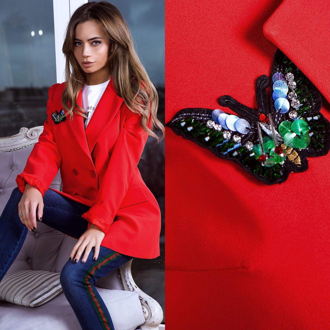 Піджак оригінальний з метеликом 6116-0