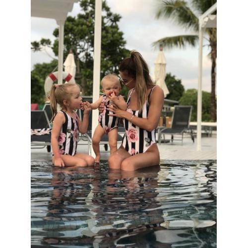 Детский цельный купальник familylook 11029