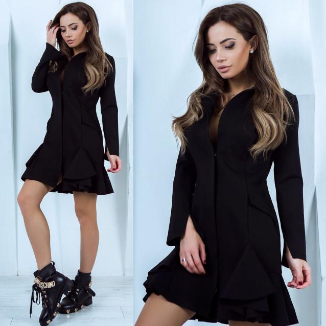 Платье с длинным рукавом 10957