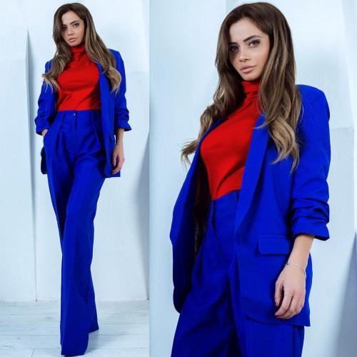 Пиджак с присборенным рукавом 11008