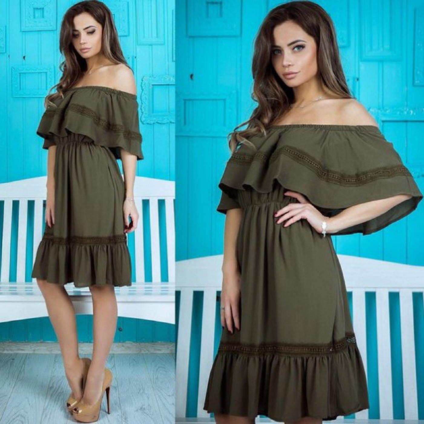 Платье со спущенными плечами 17292