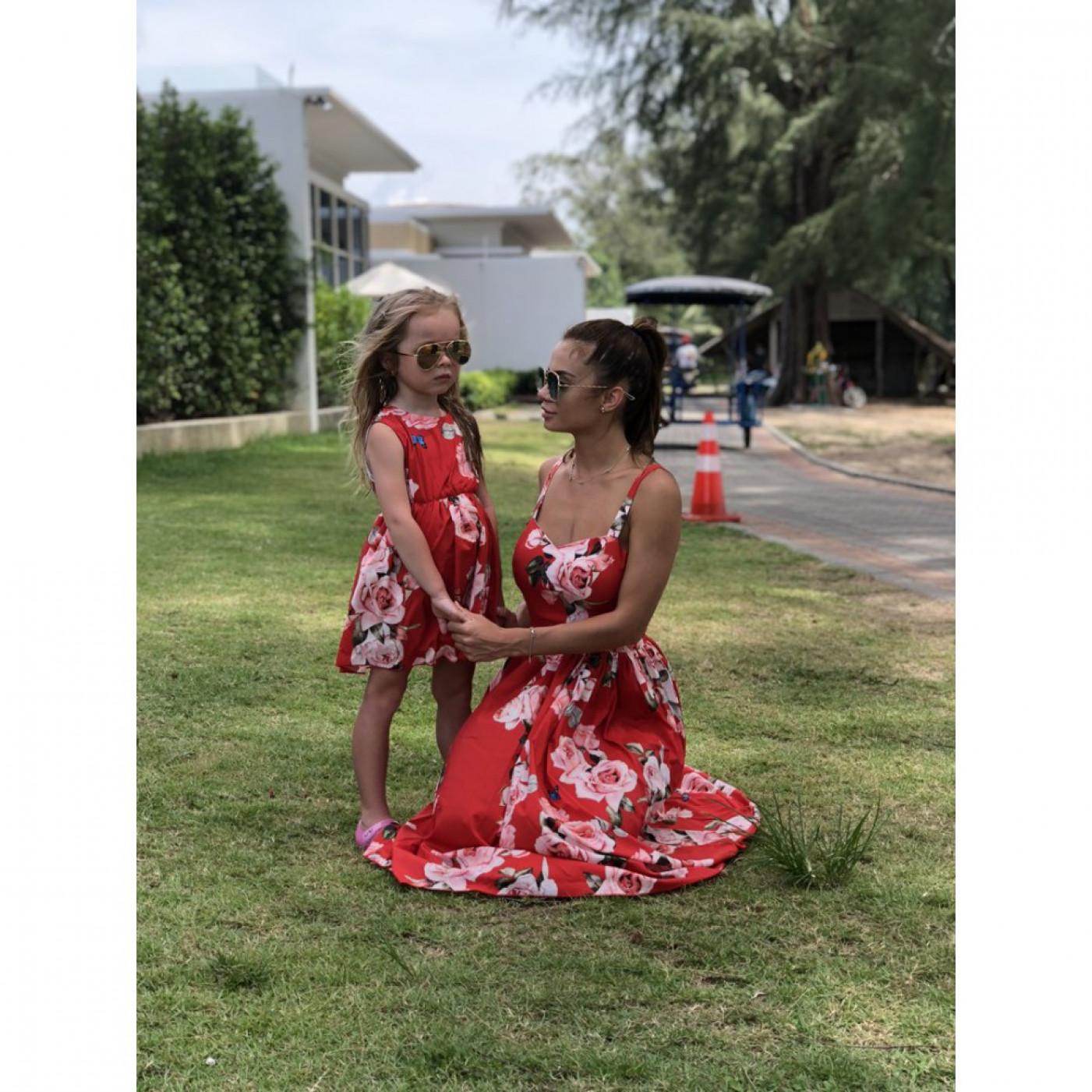 Платье взрослое яркое familylook 11053