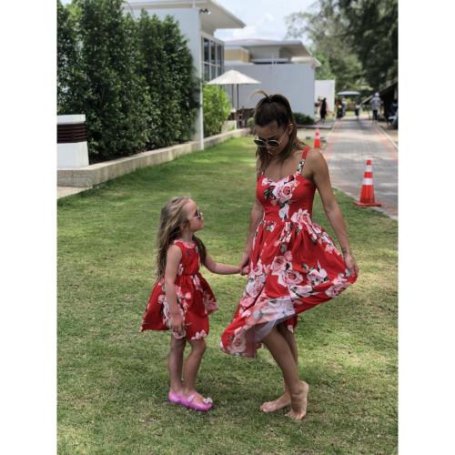Платье детское яркое familylook 11052