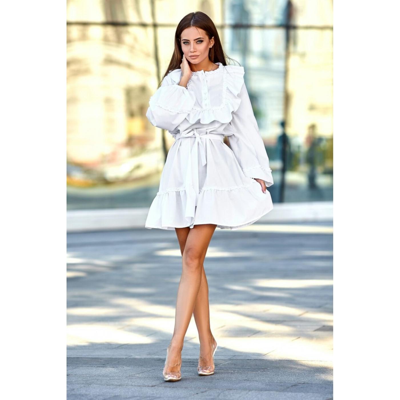 Платье с оборками 11116