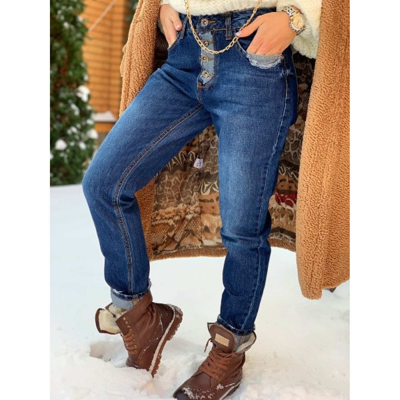 Модні жіночі джинси 3579