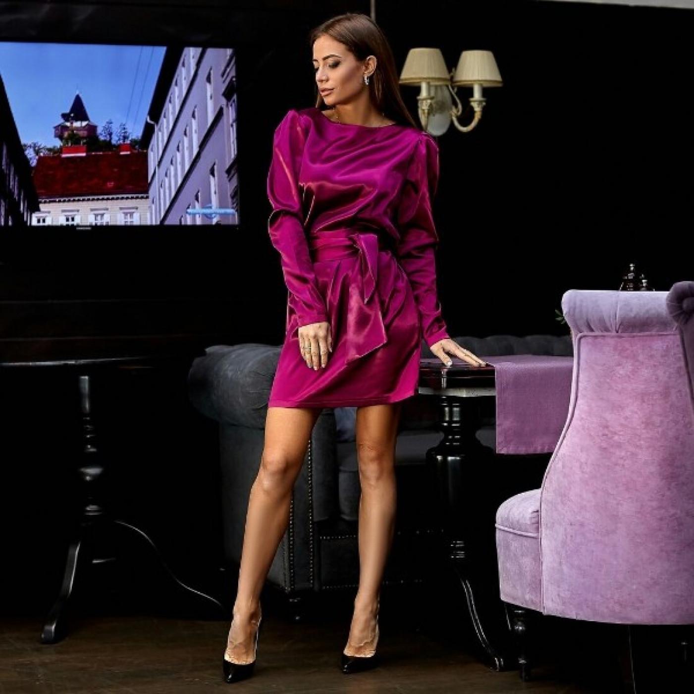 Коротке атласну сукню 11153