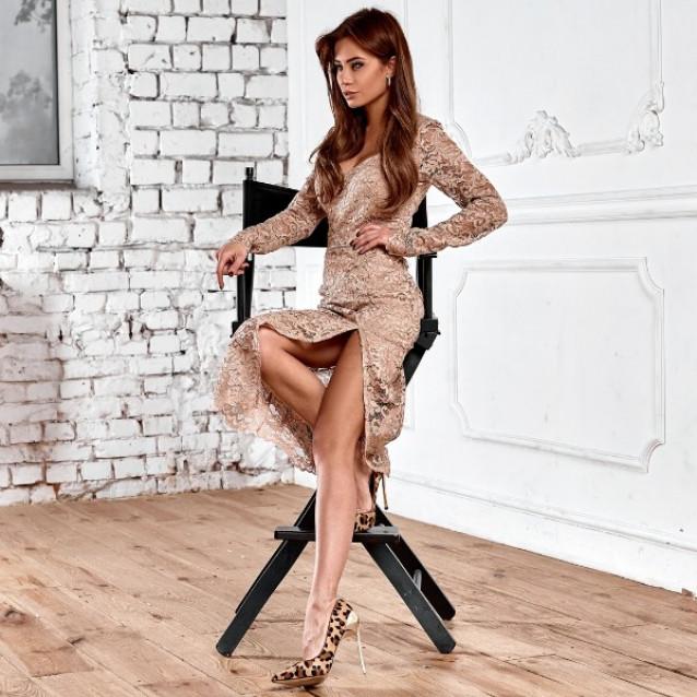 Гипюровое платье 11191