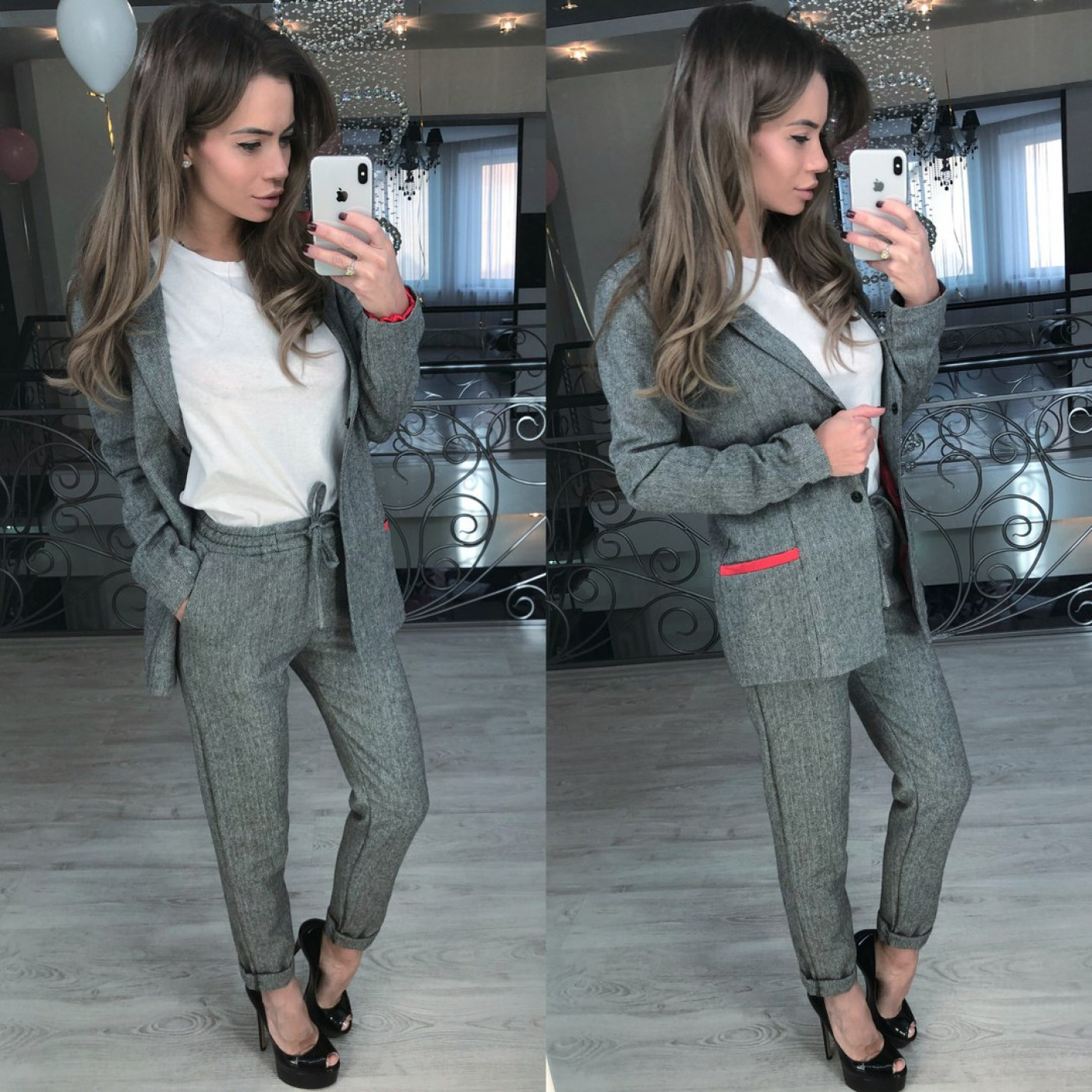 Костюм классический пиджак + брюки 10971