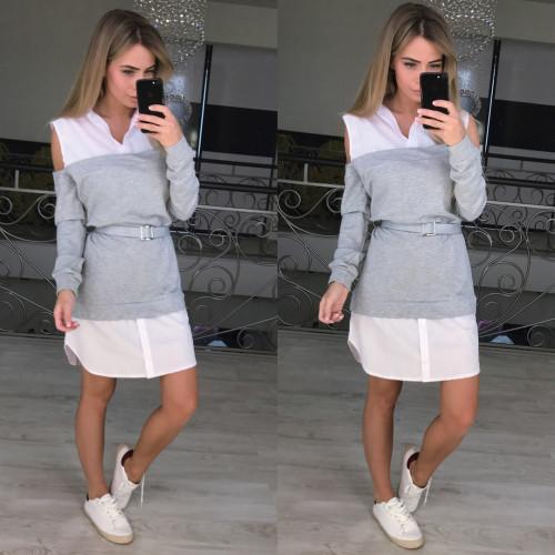 Платье оригинальное с открытыми плечами 10887