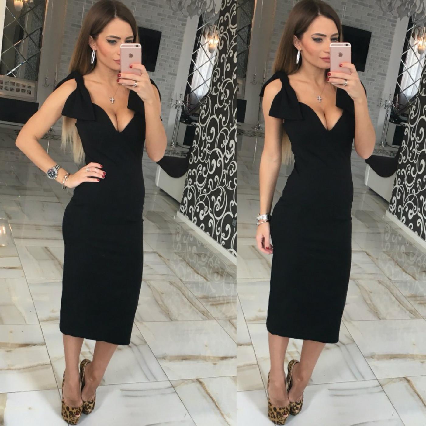 Облегающее платье-футляр 10508