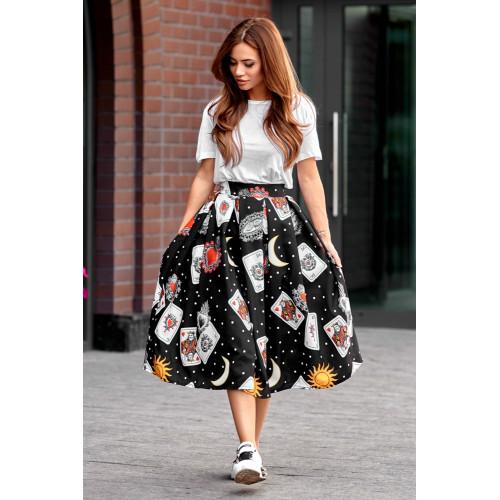 Красивая юбка с принтом 11092