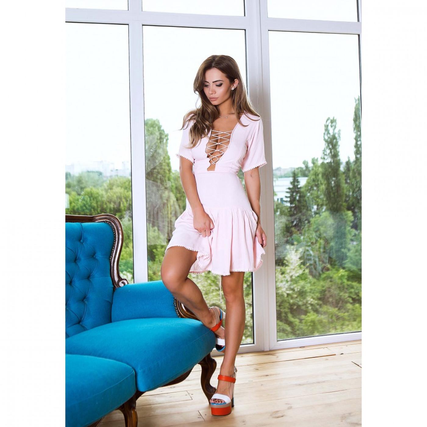 Платье со шнуровкой на спине 345-0