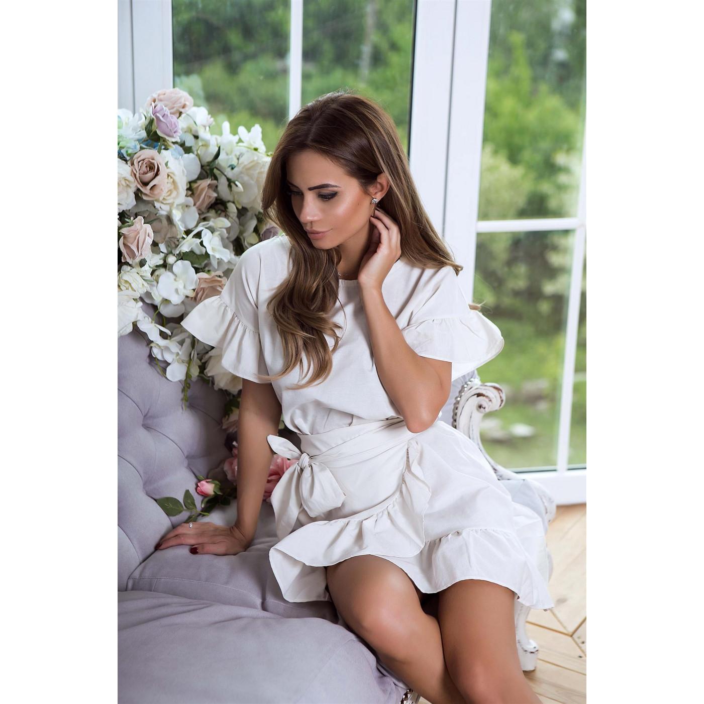 Коротке плаття рюші 3265