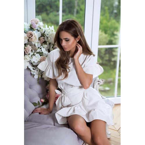 Короткое платье рюши 3265