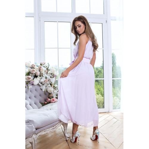 Роскошное шифоновое платье в пол с открытыми плечами 42582