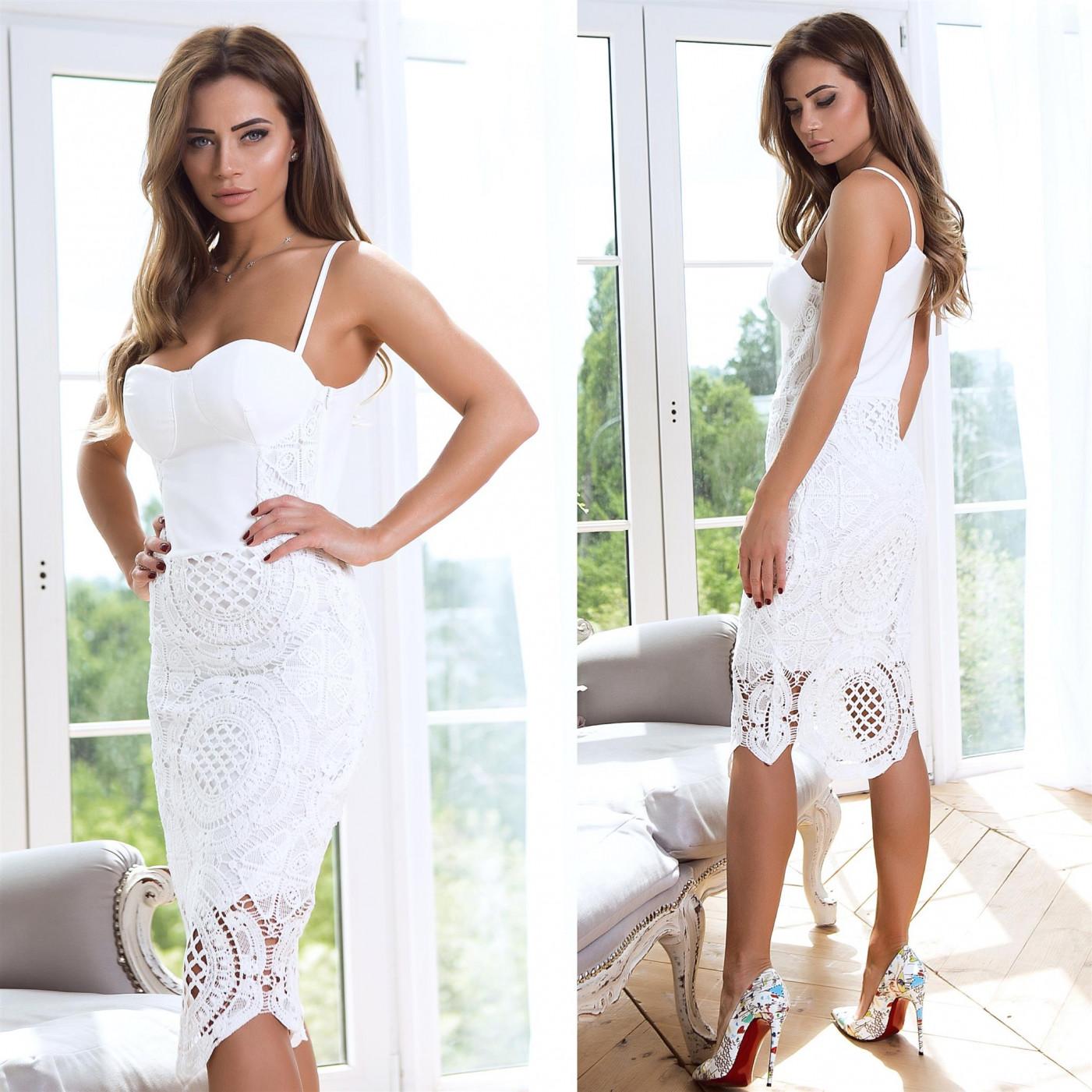 Відкрите плаття з візерунками 5439