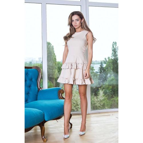 Короткое двухъярусное платье 10791