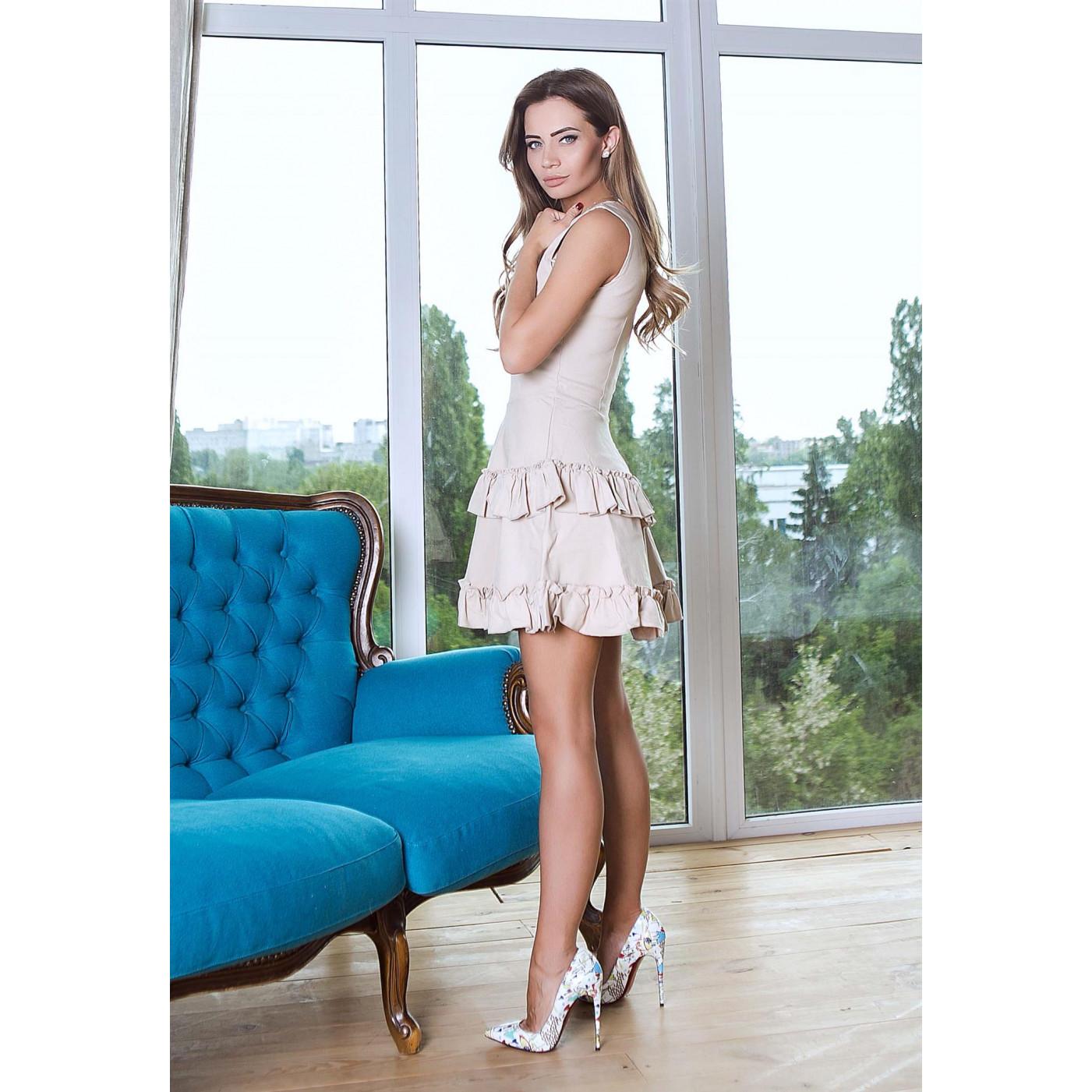 Коротке двох'ярусне плаття 10791