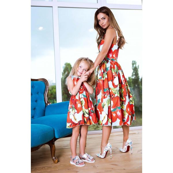 Красиве дитяче плаття Family Look 11059