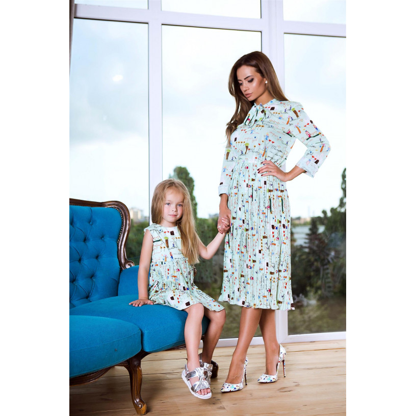 Платье детское familylook 11056