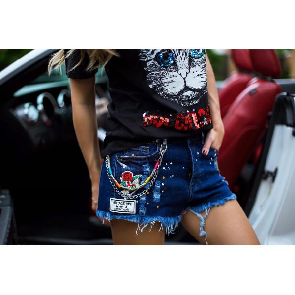 Жіночі джинсові шорти 3038