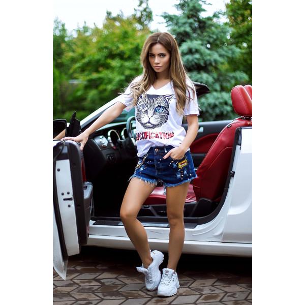Красивая женская футболка 2893