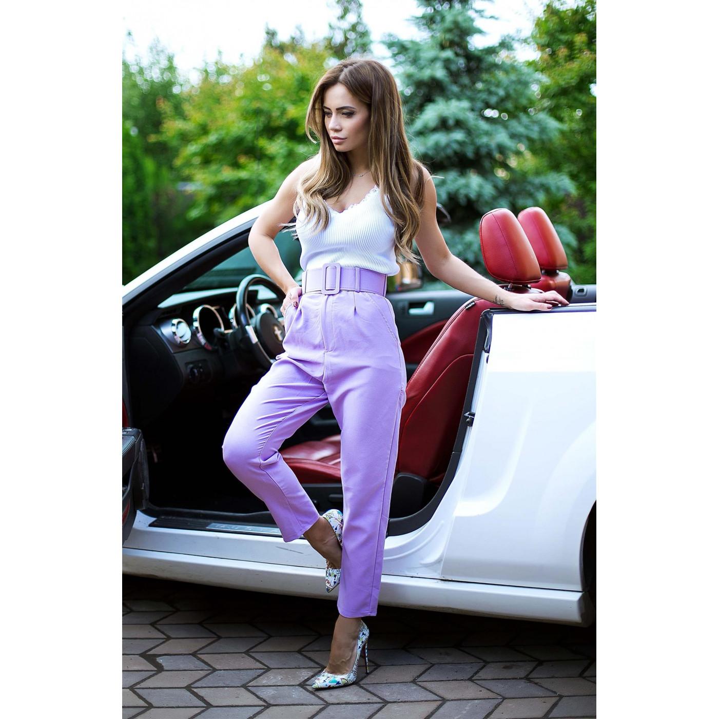 Яркие укороченные брюки 07491